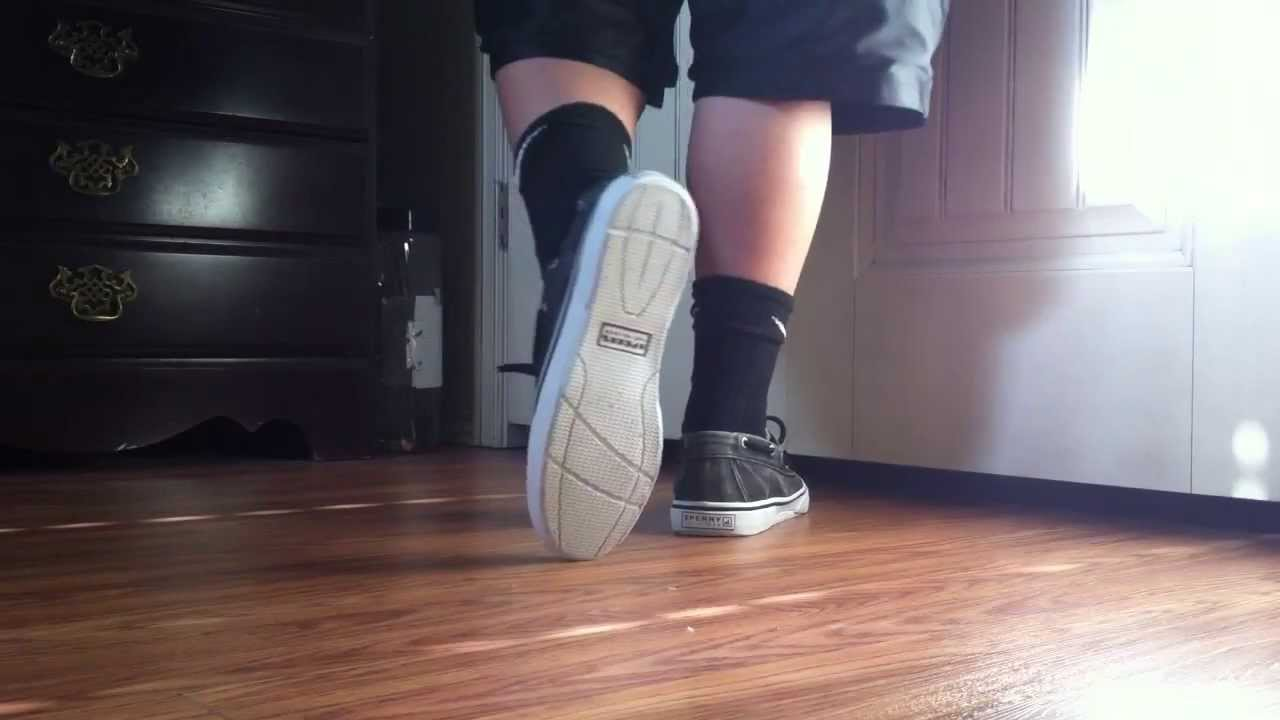 black sperry top siders on feet review youtube