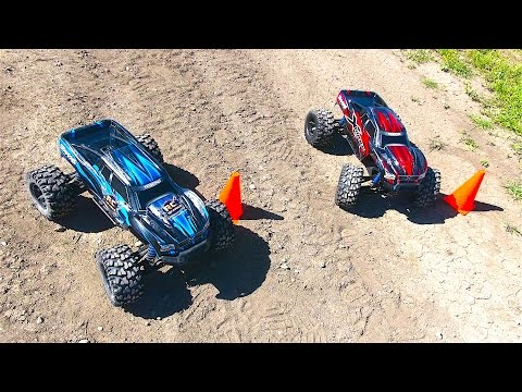 RC ADVENTURES - Let's RACE! Dual Traxxas X-Maxx - Slalom Competition