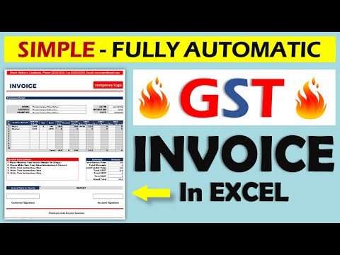 How To Create GST Invoice In Excel || Fully Automatic Invoice Template || In Hindi