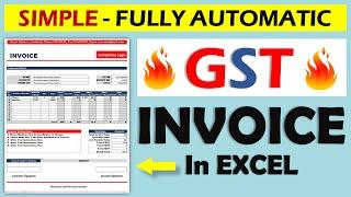 كيفية إنشاء فاتورة ضريبة السلع والخدمات في Excel || التلقائي بالكامل قالب فاتورة || في الهندية