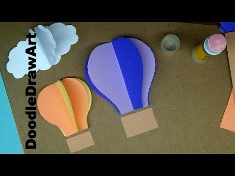 Papercraft Paper Craft: How to Make Hot Air Balloon Wall Decorations - Easy Step By Step Lesson