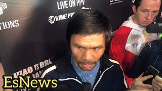 Manny Pacquiao Not Feeling Well Day After Broner Fight attends prayer service