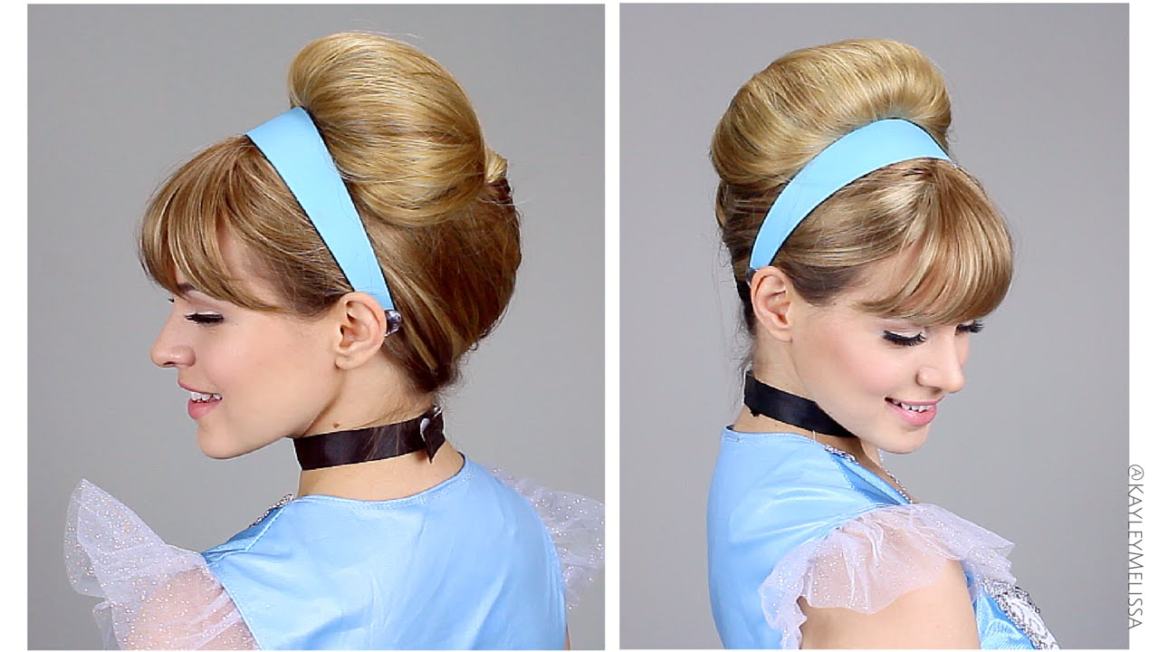 Easy Cinderella Updo For Halloween Youtube