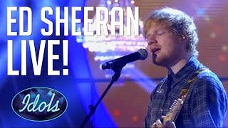 Ed Sheeran Live Performance Thinking Out Loud, I See Fire & Interview | Idols Global