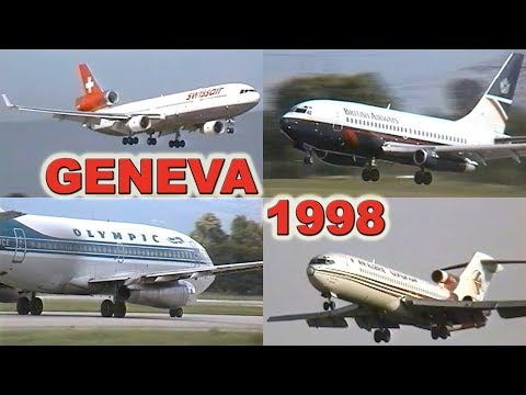 GENEVA Airport 20 YEARS AGO (1998)