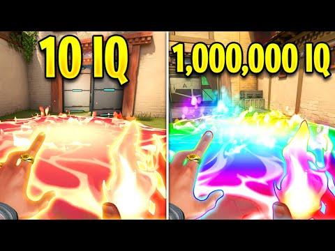 Valorant: 10 IQ VS 1,000,000 IQ Players!