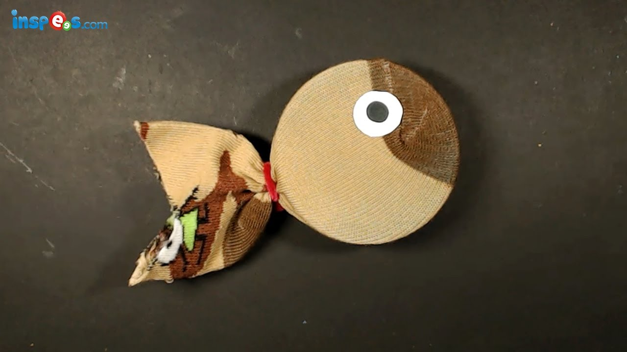 How to make sock fish youtube for Make a waste material