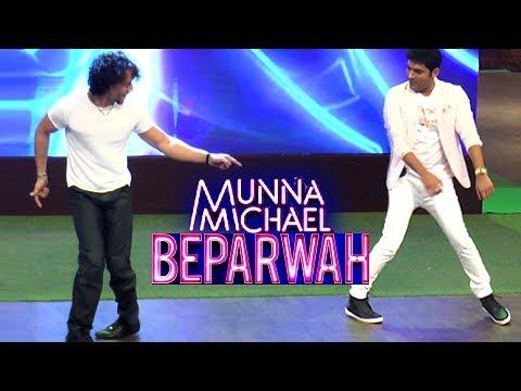Tiger Shroff Makes Kapil Sharma Dance On Song Beparwah LIVE | Munna Michael