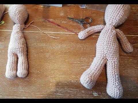 Grundkörper Puppe Teil 2 Körper Und Beine Häkeln Anleitung Youtube