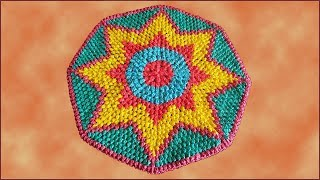 Коврик из пакетов. Коврик крючком из пакетов. Вязание коврика крючком. Часть 3. (crochet rug. P. 3)