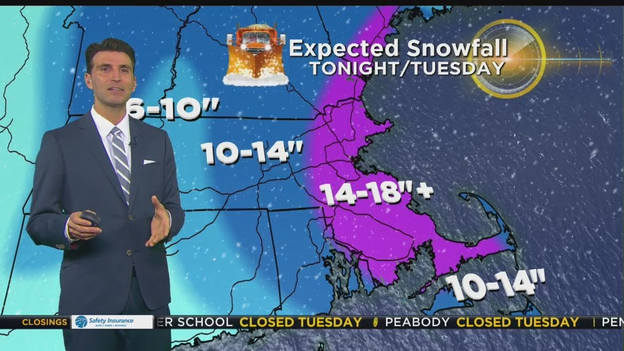 WBZ Evening Forecast For March 12