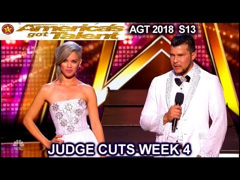 Sixto and Lucia Quick Change Duo America's Got Talent 2018 Judge Cuts 4 AGT