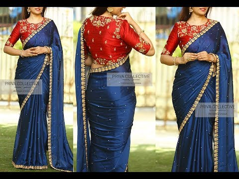 0549c573227a7f Contrast Combination Blouse & Saree Mix and Match Designer Collections with  price