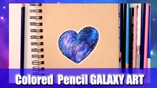 How to Make Galaxies with COLORED PENCILS (on Toned-Tan Paper) - @dramaticparrot