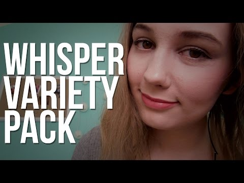 ASMR Whisper Variety Pack (sk, left side/right side, inaudible/unintelligible)