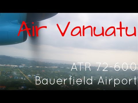 Passenger View! Air Vanuatu ATR 72-600 Takeoff from Port Vila Bauerfield International Airport