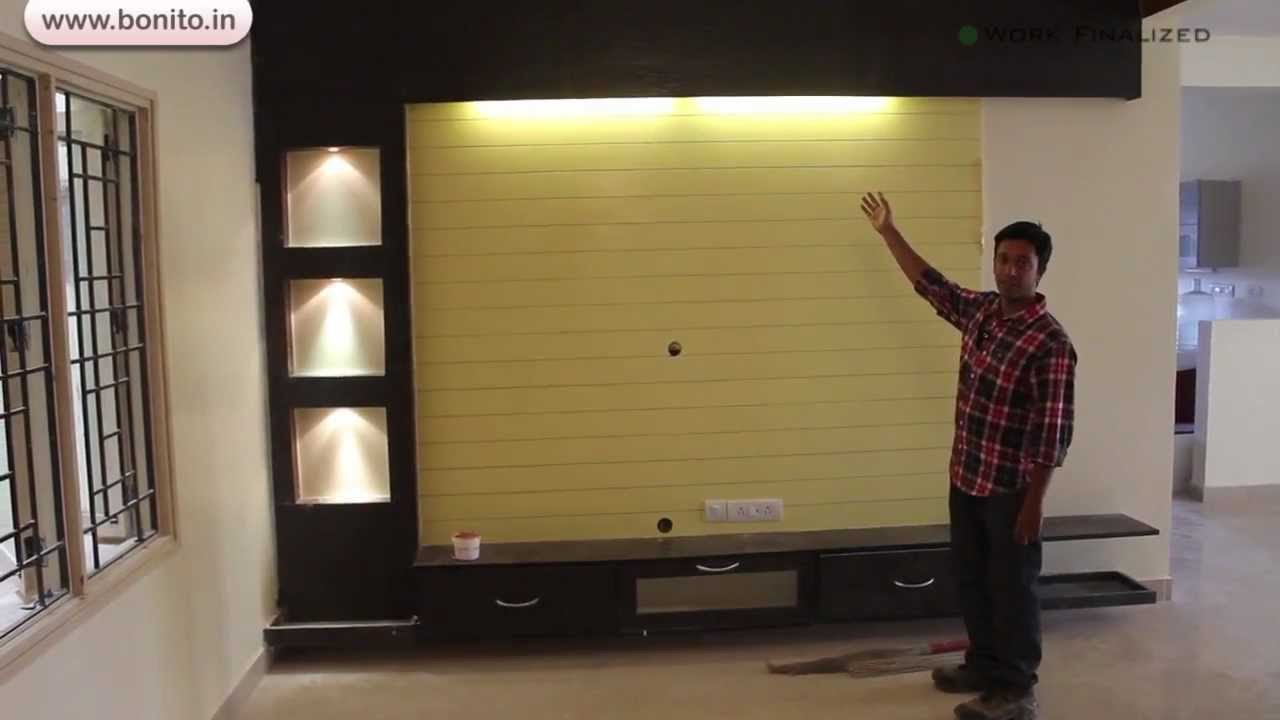 apartment interior designing mr rajasekhar final update 1 youtube - Tv Wall Panels Designs