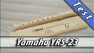 Yamaha YRS 23 Recorder sound test medley / блокфлейта флейта Ямаха тест