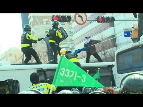 Protests erupt after South Korea removes President