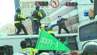 Protests erupt after South Korea removes President