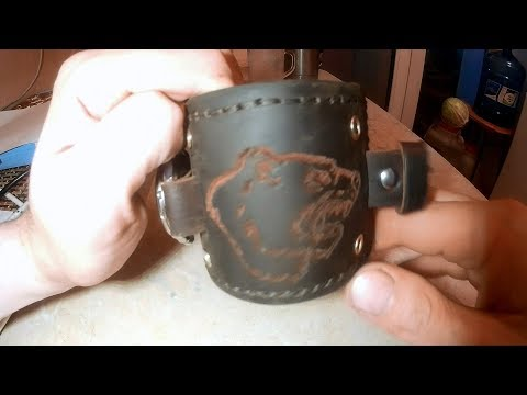 Брутальный ремешок для часов из кожи 2