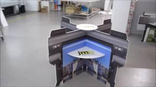 Hellas Digital - Ειδική κατασκευή Επιδαπέδιου Stand  από Forex