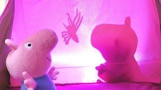 СВИНКА ПЕППА новая серия! Мультик из игрушек про Свинку Пеппу 🐷! КАРАУЛ! В палатке ПАУК 🕷️!