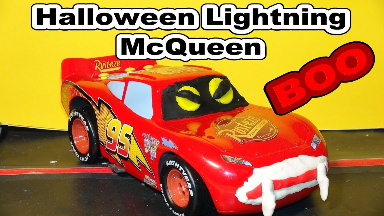 Halloween Play Doh Lightning McQueen With Zombies In Radiator Springs YouTube