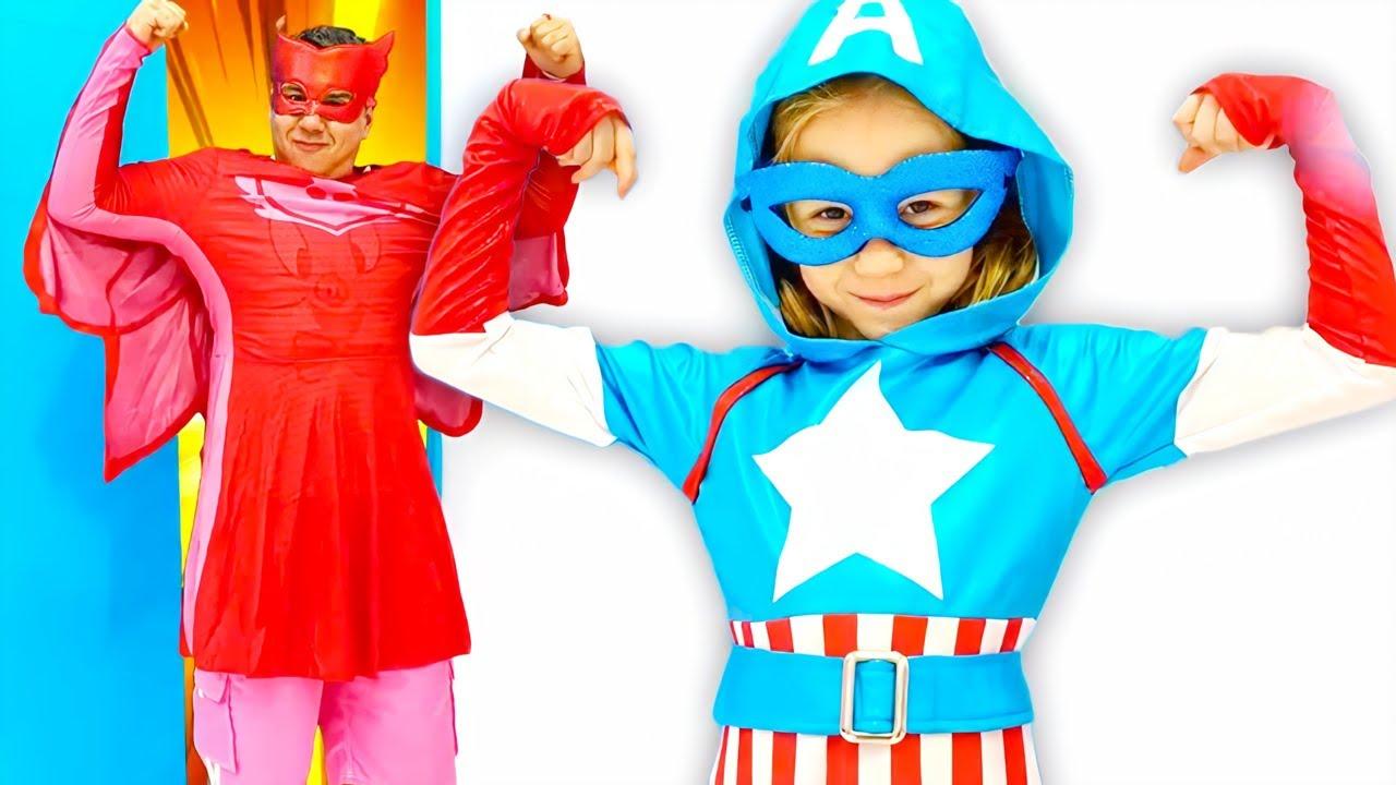 Nastya se transforme en super-héros magique