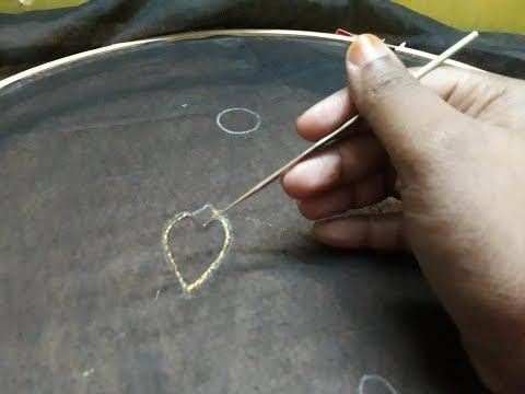 aari work for beginners / basic stitch /basic maggam work tutorial Malayalam