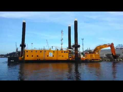 Flexi Float Pontoon deck barge Liepaja Latvia