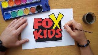 How to draw the Fox Kids logo