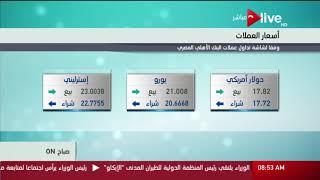 فيديو| تعرف على أسعار العملات وفقا لشاشة البنك الأهلي اليوم الإثنين