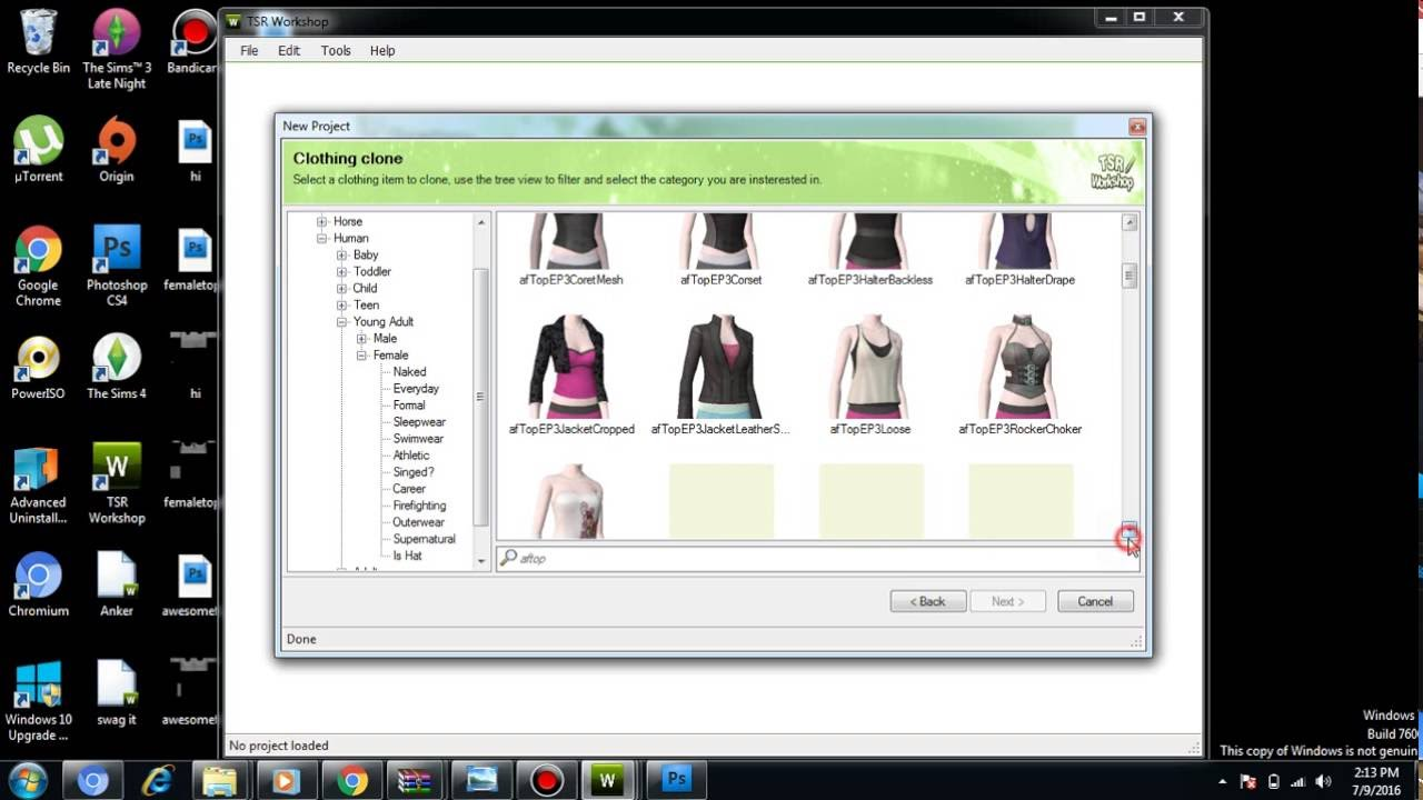How to create sims 3 Custom Content Clothes Free and Easy ...