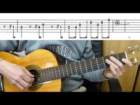 The Pink Panther - Easy Guitar melody - Guitar duet + TAB Guitar lesson