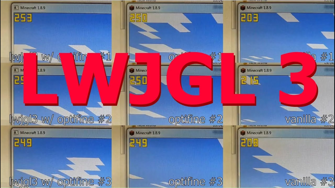Minecraft with LWJGL 3 - Performance comparison