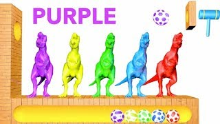 Learn Colors with Dinosaurs Surprise Soccer Balls #h Magic Liquids for Children Toddlers