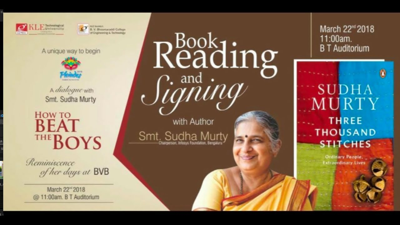 A dialogue with Smt  Sudha Murthy