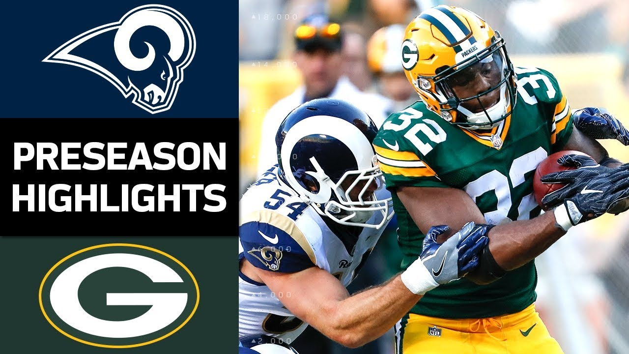 Rams Vs Packers Nfl Preseason Week 4 Game Highlights Youtube