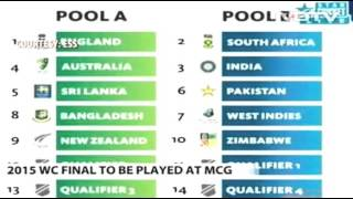 Pak and Indian same group cricket world cup 2015