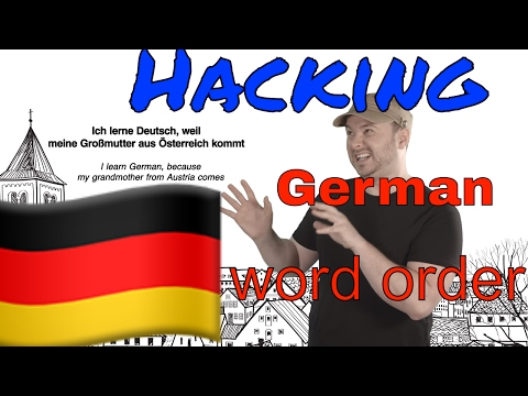 Hacking German word order (while you are a beginner)