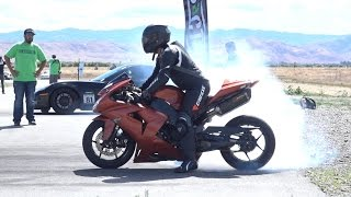 AIRSTRIP DRAG BATTLES: BIKES VS. CARS