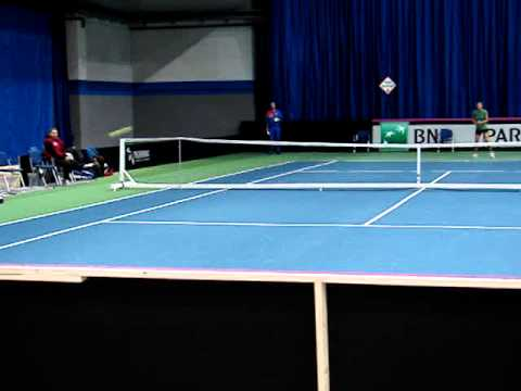 Romanian Fed Cup Team practicing- 2014, Budapest