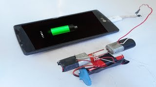 How to make Mobile Charger With Dc Motor