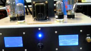 Space-Tech Lab. 300B 70W/ch TUBE power amplifier smart display demo Clip-2