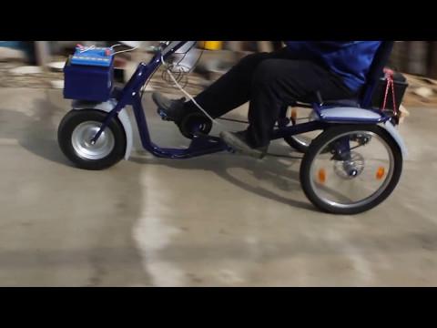 Первый тест элеткрического велосипеда, Веломобиль Трансформер 3, велосипед трех колесный для взрослых, велосипед трех колесный для детей
