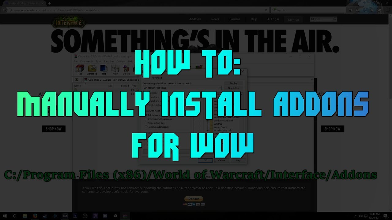 [WoW] Installing Addons (Without Twitch App)