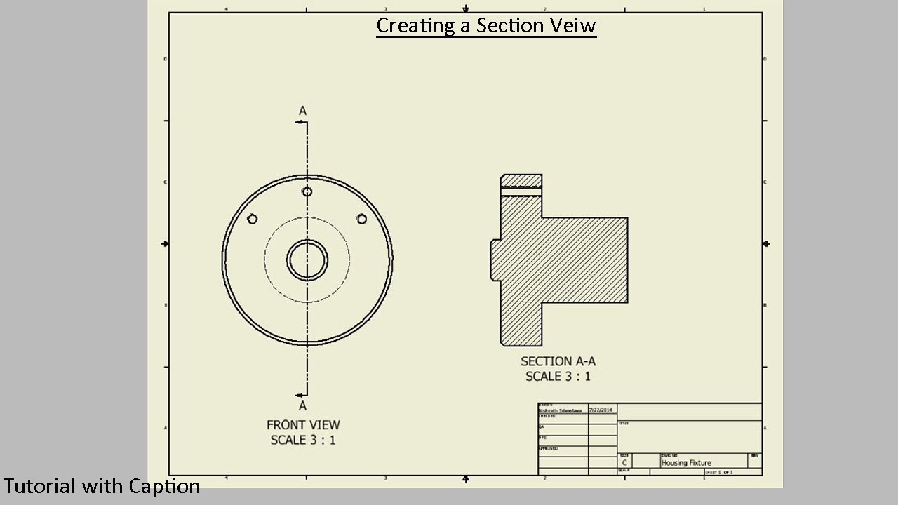 Creating A Section View Autodesk Inventor Youtube