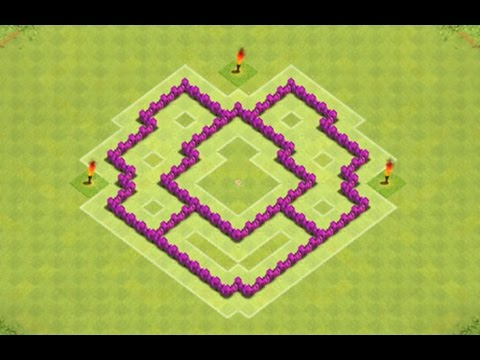 clash of clans   th5 perfect trophy clan wars base   youtube