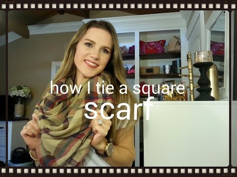 How to tie giant square scarf
